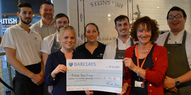 Rick Stein's Fish in Falmouth raises £700 for British Red Cross at charity lunches