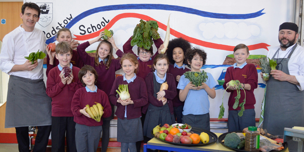Rick Stein chefs at Padstow School