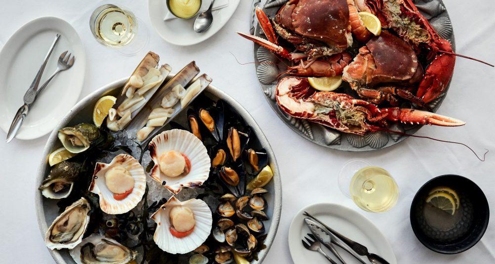Rick Stein's Seafood Restaurant, Padstow - Fruits de mer.