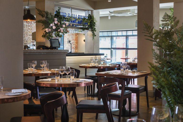 Rick Stein Winchester - Seafood restaurant on Winchester High Street. Interior.