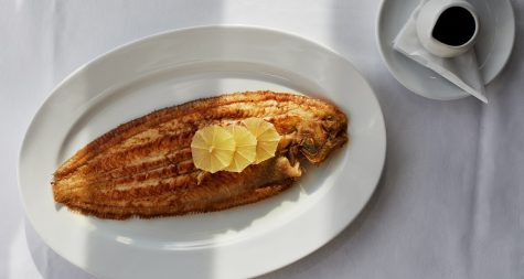Dover sole at The Seafood Restaurant, Padstow, Cornwall. Rick Stein.
