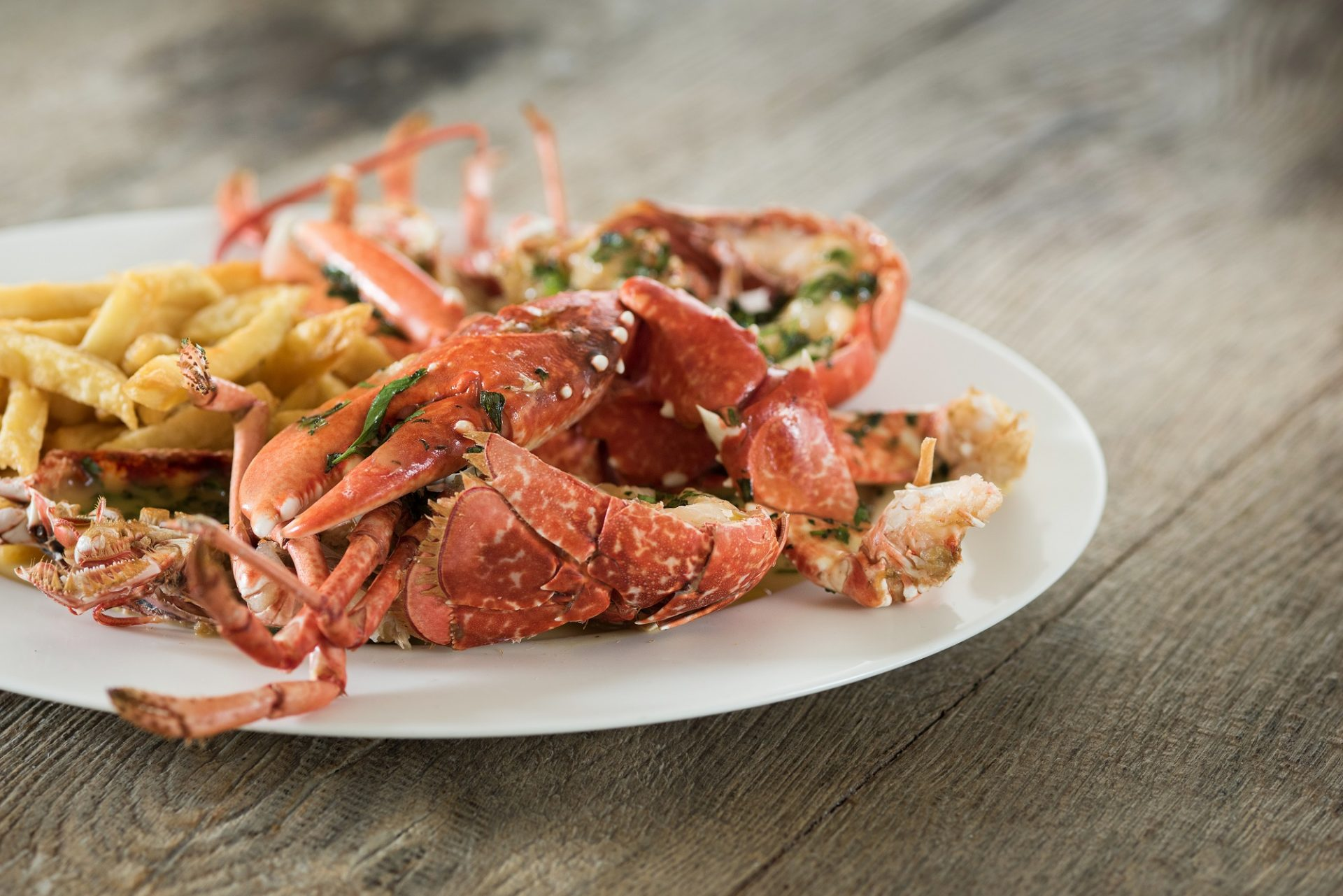Dinner parties by Stein's - Corwnall Dine with a private Rick Stein chef. Lobster and chips.